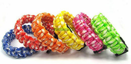 Wholesale Wholesale Parachute Cord Bracelets - 2016 new mix colors you pick Self-rescue Paracord Parachute Cord Bracelets Survival bracelet Camping Travel Kit VIA DHL FEDEX