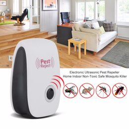 Wholesale Electronic Mosquito Repeller Killer Plug - Newest EU US Plug Electronic Ultrasonic Pest Repeller Home Indoor Non-Toxic Safe Mosquito Killer Anti Mosquito Reject Repeller