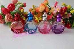 Wholesale 8ml roll perfume bottles - Wholesale- Exquisite 8ML Perfume Points Bottling Portable Roll On Perfume Bottle 4PCS LOT