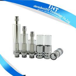 Wholesale Metal Tips - 2016 hotest glass cartridge tank glass oil atomizer O.pen vape stylus Co2 oil atomizer glass cartridge with metal tip-int03