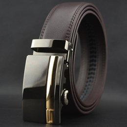 Wholesale Men Wide Leather Belt - 2016 Hot Mens Designer For Brand Leather Belt Cowskin Automatic Buckle Business Trouser Strap Pant Ceinture Homme W164 Men High End Belts