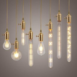 Wholesale Lamp Globe Clear - 2W 4W 6W 7W 8W E27 LED Filament Bulb Clear Glass Edison Light Bulbs For indoor Vintage Lamp Lighting