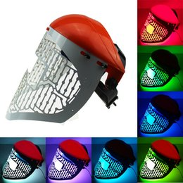 Wholesale Whitening Led - LED red blue green light therapy beauty Mask PDT Mask LED skin rejuvenation Acne Treatment skin Mask