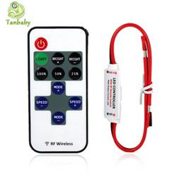 dmx 512 decoder rgb Sconti Mini controller led mini DCB-DC5-24V con dimmer Tanbaby mini telecomando a led per striscia led monocolore 5050 3528
