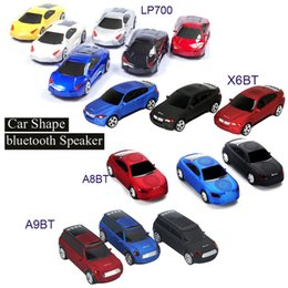 Wholesale Computer Car Radio - Super Cool Bluetooth speaker Top Quality Car Shape Wireless bluetooth Speaker Portable Loudspeakers Sound Box for iPhone Computer MIS131
