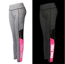 Wholesale Gray Girls Tights - LOVE PINK secret Yoga Jogging Pants Women's Sport Fitness Quick-dry Pant Victoria Tights Trousers girls Leggings Elasticity sportswear
