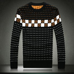 Wholesale Ugly Sweaters - Wholesale-M-5XL!The new winter men's fashion personality round collar big size printing thickening warm sweater men Ugly Christmas sweater