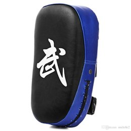 Wholesale Taekwondo Gears - Square Taekwondo Boxing Pad Punching Bag Karate Sparring Muay Thai TKD Training Foot Target Gear PU leather Surface Foam 5 colors Hot +NB
