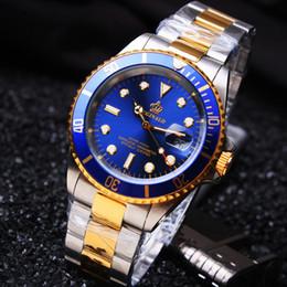 Wholesale Hk Calendar - HK Brand Reginald Men GMT Sapphire Glass Date Full Stainless Steel Women Men Sport Quartz Calendar Gif Wristwatches Reloj Hombre