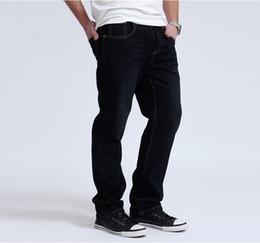 Wholesale Light Soft Blue Jeans - Lesmart Men's Business Casual Solid Soft Pure Cotton Straight Jeans Slim Fit Ventilate Long Pants Leisure Fashion Loose Trousers