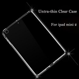 Wholesale Tablet Cases Slim - Hot Slim Transparent Soft TPU Tablet Back Cover Case For Ipad Mini 1 2 3 Clear Shockproof Protective Tablet Case Free Shipping