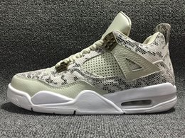 Wholesale good basketball shoes - 2016 air 4s Premium Snakeskin 4 GOOD top quality men basketball shoes mens sneakers sport shoes cheap sale size 8 13