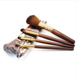 Wholesale Multi Handling Bag - 4pcs set Makeup Brushes Sets Wood Handle Multi-Functional Brushes Kits Makeup Tools with OPP Bag Makeup Tools Face Powder Foundation 2805057