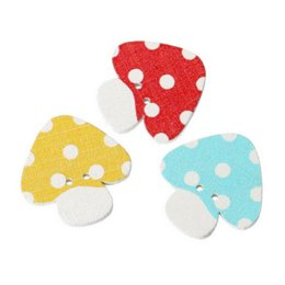 Wholesale Scrapbooking Dots - 2015 New 100pcs Mixed 2 Holes Wooden Mushroom Dot Buttons Sewing And Scrapbooking 23x22mm Sewing Accessories M64850