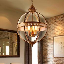 2019 lampenbearbeitungsglas Kreative Persönlichkeit Vintage Kronleuchter Lampe Restaurant Bar Cafe American Wohnzimmer Pendelleuchte, Schmiedeeisen Glasschirm günstig lampenbearbeitungsglas