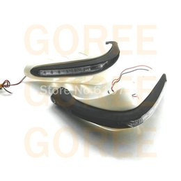 """Wholesale Hand Guards Handguard - WHITE 7 8"""" 22mm ATV accessories handguard motorcycle hand guard with led turn light for scooter dirtbike pitbike"""