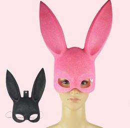 Wholesale Wedding Decorations Rabbit - Rabbit Party Christmas Halloween Masquerade Masks New Year Mask 28*20CM Face Mask Decoration Props Toys KKA3045