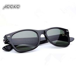 2019 gafas de sol de mejores lentes AOOKO mejor protección UV400 Plank negro Gafas de sol de cristal Lente G15 Verde Gafas de sol de playa gafas de sol de vidrio Gafas de sol polarizadas 52 / 55mm rebajas gafas de sol de mejores lentes