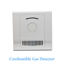 Wholesale Combustible Gas Alarm Detector - Indoor Use Wall-Mounted Combustible Gas Detector Coal Natural LPG Gas leak Fire Alarm CH4 leaking Sensor NC NO signal options Free Shipping