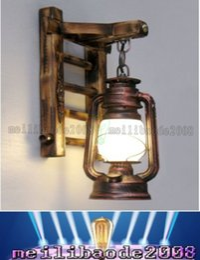 New Retro Wall Light Nostalgia Kerosene Lamp Antique Vintage Thrift Lantern Wall Mount Sconce Lamp Lights Led Bulb For Bar Cafe Myy