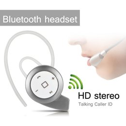 Wholesale Super Small Bluetooth Headset - HD Stereo Super Small Snail Wireless Mini Bluetooth v4.0 Headset Earphone Headphone Headset Multi-point Music For iPhone Samsung HTC Haiwei