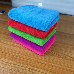 Wholesale Microfiber Super Absorbent Towel - 20PCS high quality microfiber cleaning cloth towel car wash towels super soft coral cashmere double thick absorbent towel