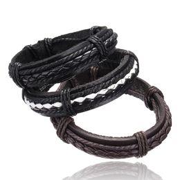 pulseiras de punho jóias traje Desconto Atacado-pulseira de couro homens Jóias 2016 pulseira mulheres hombre pulseira masculina mujer erkek bileklik boêmio charme hombre