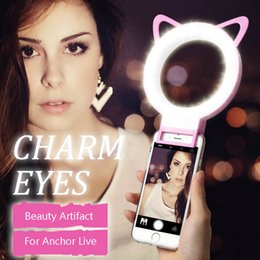 ring speedlite Sconti Telefono LED Selfie Flash Ring Light con prezzo di fabbrica per iPhone 7/7 Plus 6/6 Plus Samsung Note 7 S7 Blackberry Android