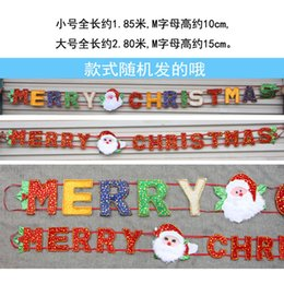 Wholesale Banner Pull Up - Christmas PULL Flag Christmas Happy English Letter Banner PULL Flag Christmas English Hang Up A Flag PULL Bar Scene Decoration