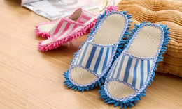 Wholesale New House Cleaning Mop - New Arrival 27*11cm Microfiber Dust Cleaner Cleaning Mop Slipper House Bathroom Floor Shoes Cover Lazy Tool Home Supplies