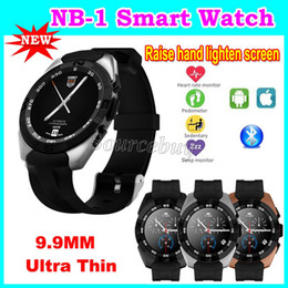Wholesale Nb Black - G5 Latest Bluetooth Smart Watch 2nd Generation Heart Rate Wake-up Gesture 9.9mm Ultra Thin Sport Pedometer NB-1 Smartwatch For IOS Android