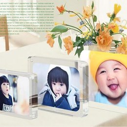 Wholesale Plexiglass Can - 7 inches 178x127mm acrylic plexiglass magnet photo frame european creative Have many different size inventory and can customize any size