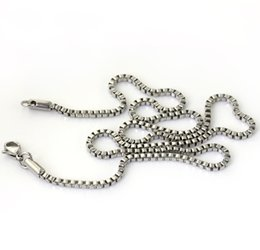Wholesale Stainless Steel Cable Jewelry Chain - Fashion 2mm width stainless steel rolo cable chain link necklace, pendants jewelry accessories (length 18 inch)