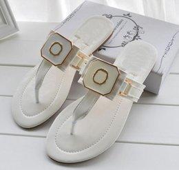 Wholesale Beach Flip Flops For Girls - News Hot Sandals for women Flat Flips Flops Girls Fashion Name Flat Nice Quality Sandals Summer US11 EUR35-42