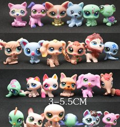 Wholesale Toy Bag Pvc - Toy bag 24Pcs lot Pet Shop Animals Cats Kids boy and girl Action Figures PVC LPS Toy Birthday Christmas Gift
