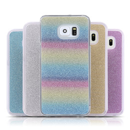 Wholesale Shining Tpu Case - Luxury Shining Bling Glitter Phone Cover Soft TPU Case For Iphone 7 6 6s Plus 5 5s SE Samsung J7 J5 Huawei OPPBAG