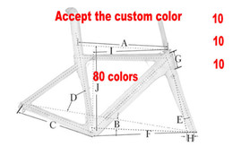 Wholesale Carbon Bike Frame Red - 80 New Colors Carbon Road Frame Carbon Bike Frame 3K 1K 44cm to 59.5cm Avaliable