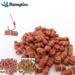 Wholesale Bag Hooks - Rompin 100pcs bag Red carp fishing bait smell Grass Carp Baits Fishing Baits lure formula insect particle rods suit particle
