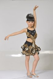 Wholesale Rosette Children Skirt - Modern dance performance of the girls dress children stage Children skirt Latin dance Jazz dance festival skirt