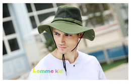 Wholesale Dome Camping - Amazing Men Women Bucket Hat Wide Brim Unisex Summer Hat for Hunting Fishing Hicking Camping Climbing Outdoor 5 colors