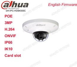 Wholesale Hd Poe - Dahua IPC-HDB4300C 3MP HD Waterproof IP66 Network Dome Mini Camera POE