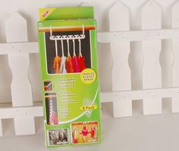 Wholesale Adjustable Wooden Coat Hanger - Wooden Paint Magic Hanger (8 Pack) Space-Saving Magic Bath Drying Racks Hook Closet Organizers