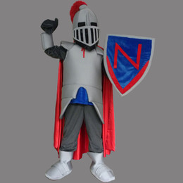 Wholesale Mascot Knight - Custom Red Warrior Knights mascot costume adult size cartoon character costume fancy dress party