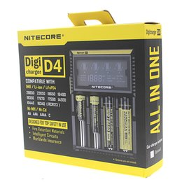 carregador inteligente nitecore i4 Desconto Nitecore D4 Digicharger Display LCD Carregador de Bateria Universal Nitecore Carregador inteligente 4 em 1 carregador inteligente VS nitecore I4 dhl FJ139