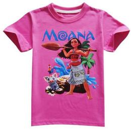 Wholesale Tee Shirt 12 - 2017 Summer Casual Kids Trolls Costume Short Sleeves Top Tees Baby Clothing Children T Shirts Moana Boys Clothes Girls T-Shirt