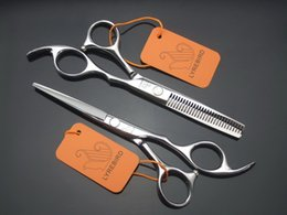Wholesale Tesoura Cabeleireiro Steel - Styling Tools Hair Hair set 5.5 INCH or 6 INCH Silvery scissors LYREBIRD tesoura de cabeleireiro profissional Simple packing NEW