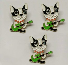 Wholesale Children Guitars Wholesale - Animal Brooch Pins cute dog and guitar lively brooches for children high quality brooch jewelry free shipping