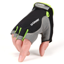 Wholesale Exercise Bicycles - Wholesale-2016 Tactical Fingerless Gloves For Fitness Outdoor Sports Exercise Antiskid Climbing Bicycle Workout Motocycle Biker Gym Gloves