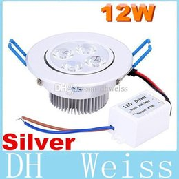 Wholesale Recessed Power - CREE Dimmable Led Recessed Ceiling Lights 12W Led Downlights Warm Natrual Cold White 720 Lumens AC 110-240V Power