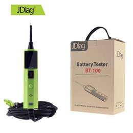 Wholesale Gm Lcd Display - Original JDiag BT100 Battery Tester 2016 BT-100 LCD Display Electrical System Circuit Diagnostic Support Cars Trucks Replace Autek YD208